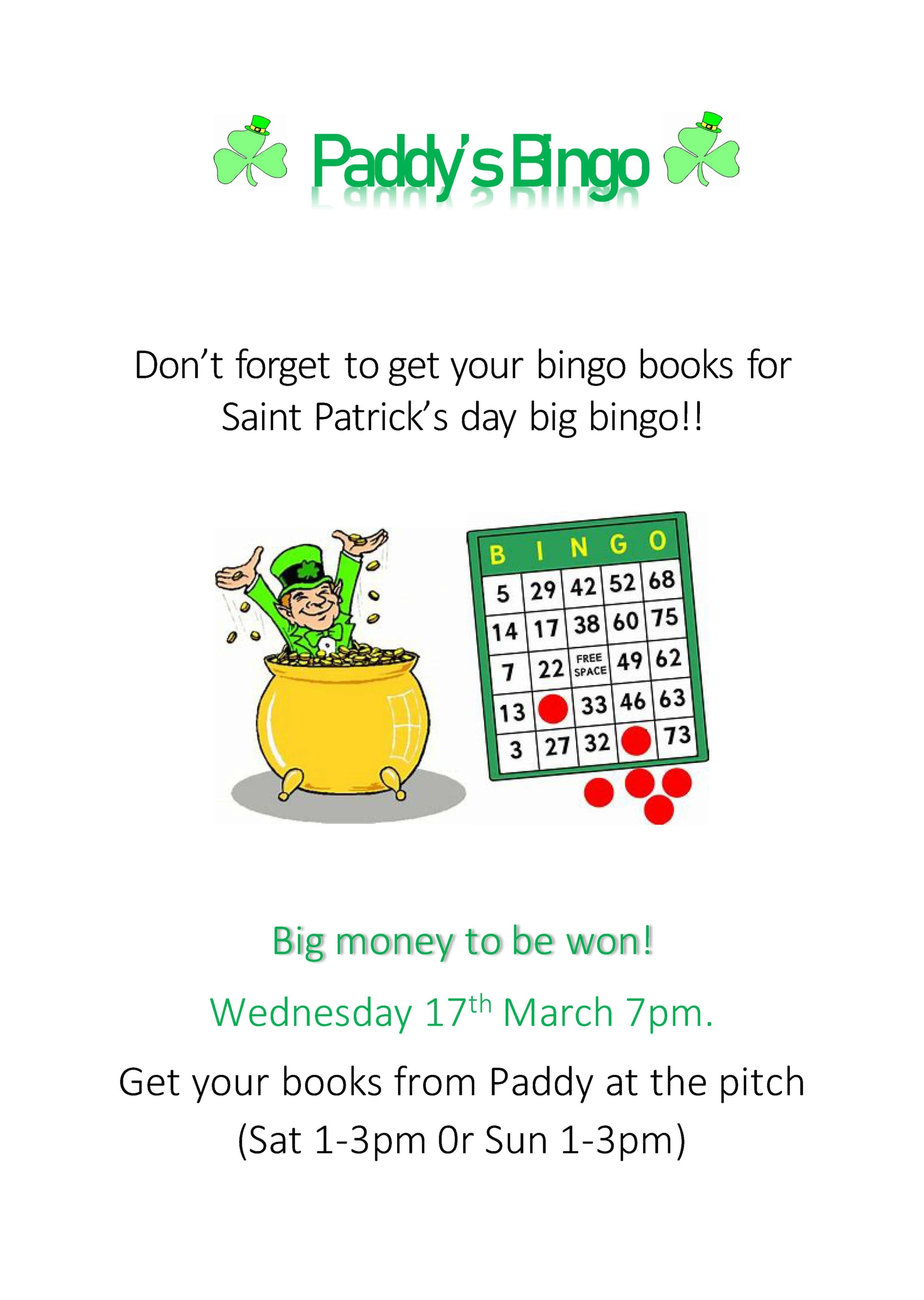 Paddy's Day Bingo